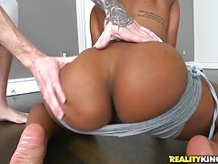You`re not gonna want to miss any of this cutie getting her ass worked then getting a huge load all over her pretty face.