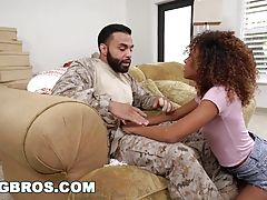 Black Pornstar Kendall Woods Fucks For Our Troops